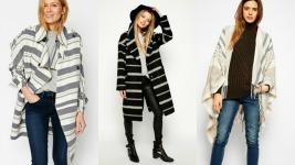 Ριγέ παλτό και κάπες: Δείτε τιμές και διαλέξτε!
