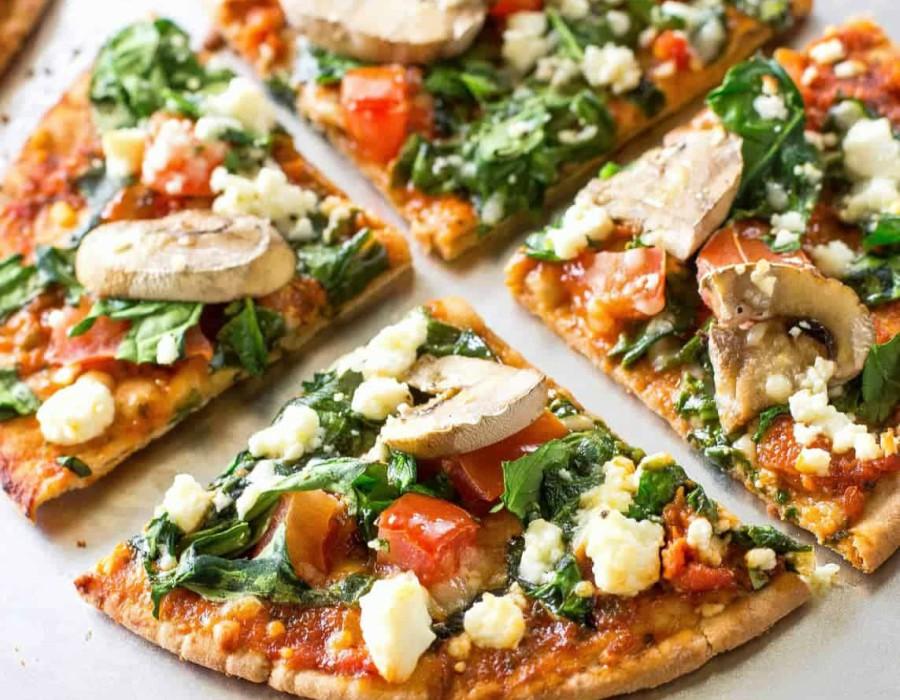 υγιεινές συνταγές για πίτσα