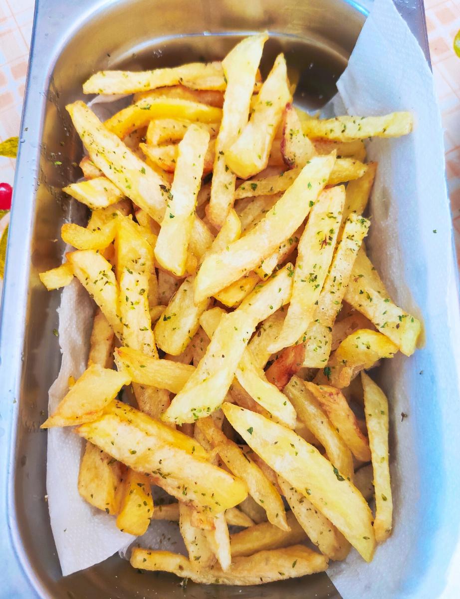 τραγανές τηγανιτές πατάτες